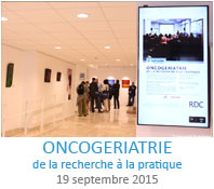 Séminaire Oncogériatrie : de la recherche à la pratique