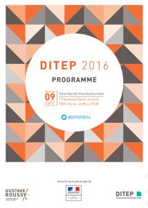 Journée DITEP 2016